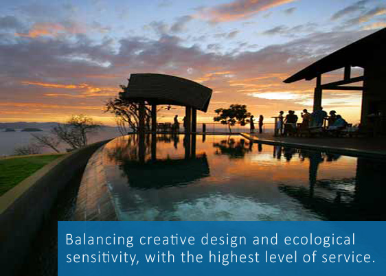 Balancing creative design and ecological sensitivity, with the highest level of service.